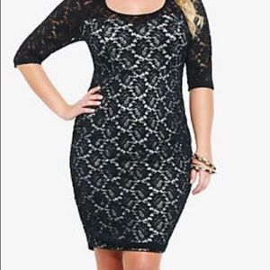 Torrid lace bodycon dress